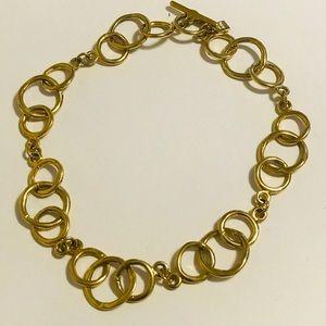 Vintage Anne Klein gold necklace 18 inch